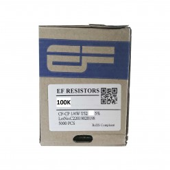 EF 100K, (5%) 1/4w or Quater watt Resistor, CFR, 5000pcs