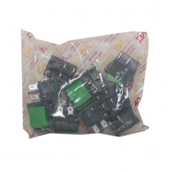 DV Rocker Switch, DPST, 6amp, 250vac, 4 Pins Without Light, Green, 50pcs