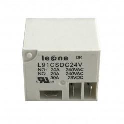 Leone L91CSDC24V , 20 - 30 Ampear, 24 Volts Relay, Datasheet