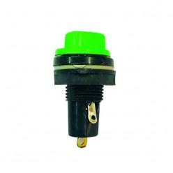 EK. Small Fuse Holder,Aluminium, Plastic Screw, Black/Green, 50Pcs